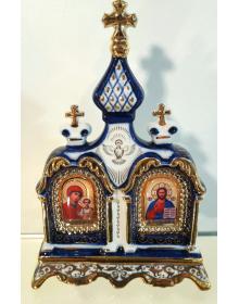 """Настольный киот """"Спаситель, Пресвятая Богородица"""""""